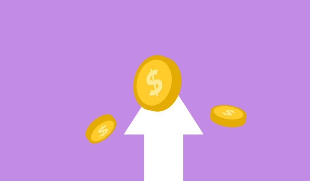 Image montrant une flèche allant vers le haut en direction de pièces