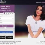 Page d'accueil du site de rencontre tsdate